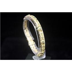 Exquisite 14kt Gold over Silver Russian Alexandrite Bracelet