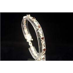 Dazzling Golden Citrine Silver Bracelet