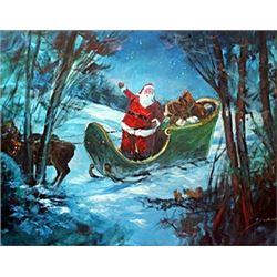 Santa's Sleigh - Original by Michael Schofield
