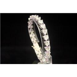 Lavish White Sapphire Silver Bracelet (36B)