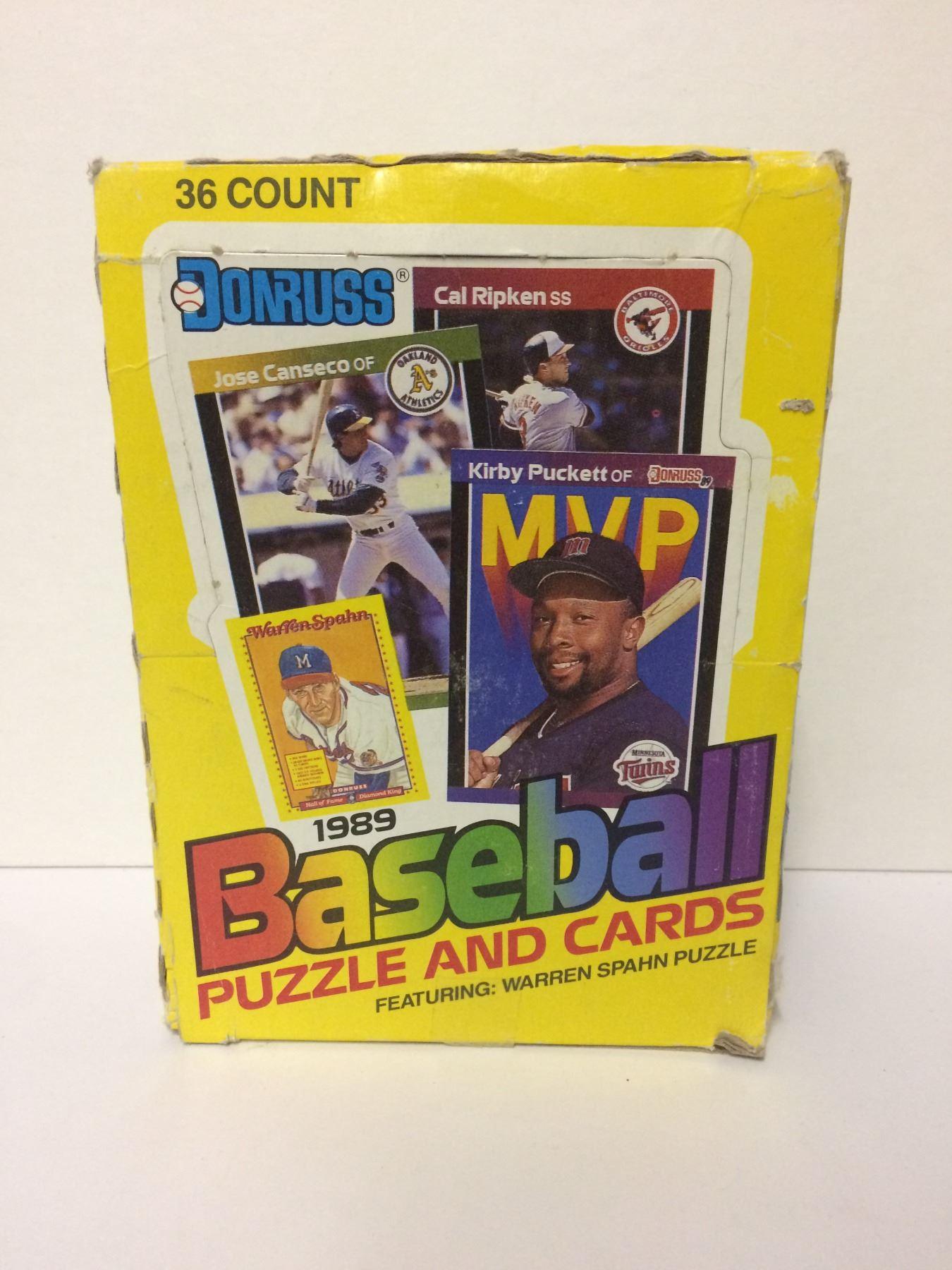 1989 Donruss Baseball Puzzle Cards Set Featuring Warren Spahn Puzzle