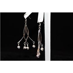 Dazzling Dangling Balls Silver Earrings (14E)