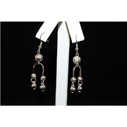 Lavish Chic Silver Earrings (28E)