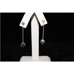 Beautiful Dangling Flower Silver Earrings (33E)