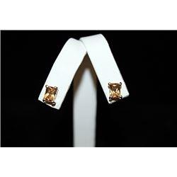 Beautiful Gemstone Silver Stud Earrings (53E)