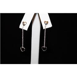 Gorgeous Hearts Silver Earrings (55E)