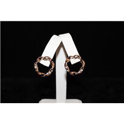 Fine 14kt Rose Gold over Silver Earrings (66E)