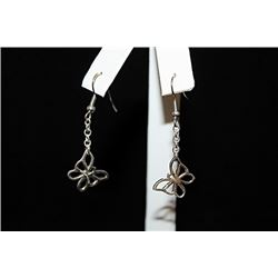 Fine T & Co. Butterfly Silver Earrings (76E)