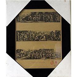 Framed Histoire Romaine Engraving (72E-EK)