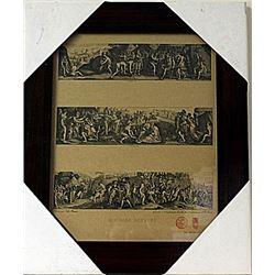Framed Histoire Romaine Engraving  (73E-EK)