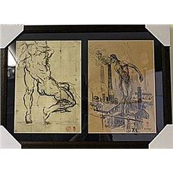 Framed 2-in-1 Engravings (114E-EK)