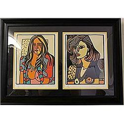 Framed 2-in1 Thornhill, Anna Lithographs (118E-EK)