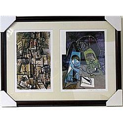 Framed 2-in-1 Picasso Lithographs (128E-EK)