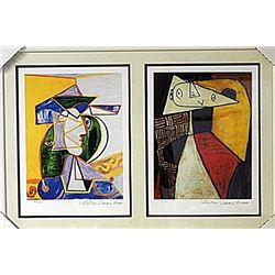 Framed 2-in-1 Picasso Lithographs (162E-EK)