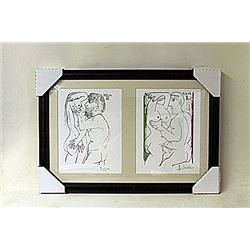 Framed 2-in-1 Picasso Lithographs (180E-EK)