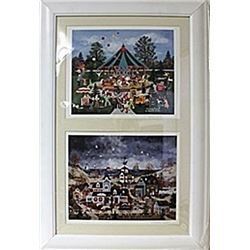 Framed 2-in-1  JWScott Lithographs (183E-EK)