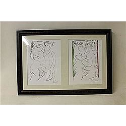 Framed 2-in-1 Picasso Lithographs(226E-EK)