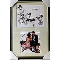 Framed 2-in-1 Norman Rockwell Lithographs (234E-EK)