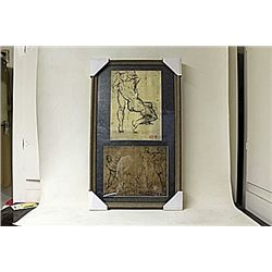 Framed 2-in-1 Engravings (242E-EK)