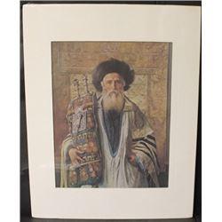 """RABBI WITH TORAH"" By ISIDOR KAUFMAN (N)"
