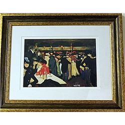 Framed Pablo Picasso-Moulin de la Galette LE Lithograph (12E-EK)