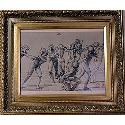 Framed Raimondi- Massacre of the Innocents Engraving (30E-EK)