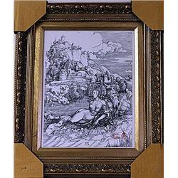 Framed Albrecht Dürer-The Sea Monster Engraving  (47E-EK)