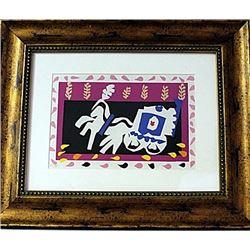 Framed Henri Matisse-L'Enterrement de Pierrot LE Lithograph (59E-EK)