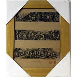Framed Histoire Romaine Engraving (65E-EK)