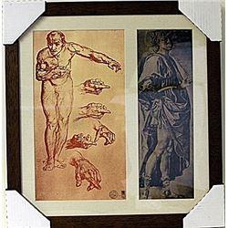Framed 2-in-1 Engravings (82E-EK)