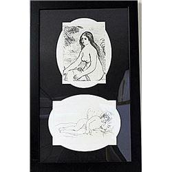 Framed 2-in-1-Renoir Lithographs (83E-EK)