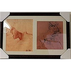 Framed 2-in-1 Engravings  (116E-EK)