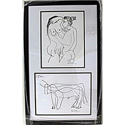 Framed 2-in-1 Picasso Lithographs (117E-EK)