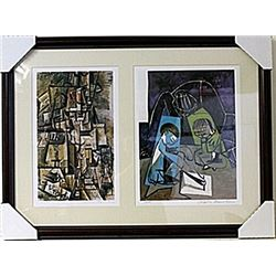 Framed 2-in-1 Picasso Lithographs (128E-EK)