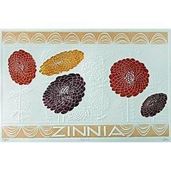 """Embossed Lithograph """"Zinnia""""  Hari Hockey"""