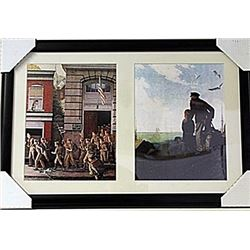 Framed 2-in-1 Norman Rockwell Lithographs (153E-EK)