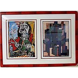 Framed 2-in-1 Picasso Lithographs (161E-EK)