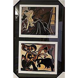Framed 2-in-1 Picasso Lithographs (169E-EK)