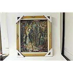 Framed Untitled Painting (181E-EK)