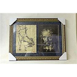 Framed 2-in-1 Engravings (219E-EK)