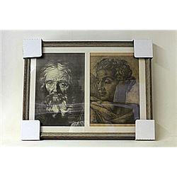 Framed 2-in-1 Engravings (223E-EK)