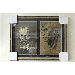 Framed 2-in-1 Engravings (224E-EK)