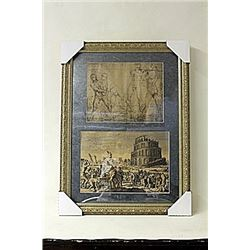 Framed 2-in-1 Engravings (227E-EK)