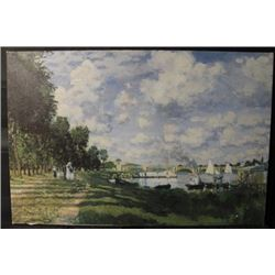 """""""THE PORT AT ARGENTEUIL"""" Signed in the Manner of CLAUDE MONET (N)"""