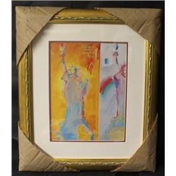 """""""STATUE OF LIBERTY COLLAGE"""" By PETER MAX (N)"""