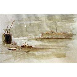 Fisherman At Night - P.D. Van Santvoort