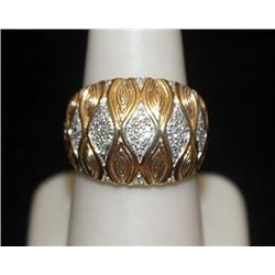 Unisex 14kt over Silver Ring with Diamonds (116I)