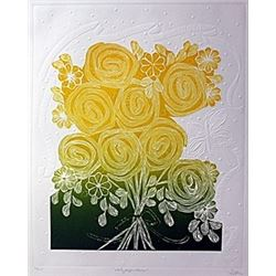 """Etching """"Lollypops and Roses""""  Hari Hockey"""