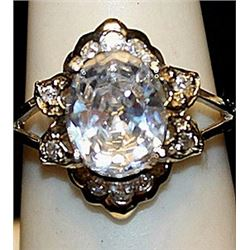 Gorgeous Kunzites Sterling Silver Ring. (198L)