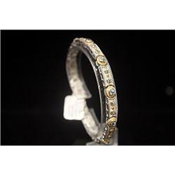 Elegant London Blue Topaz Silver Bracelet